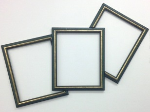 """""""charities"""", 2015. reworked found frames"""