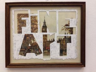 """""""fine art"""", 2013. tipp-ex on found painting (private collection)"""