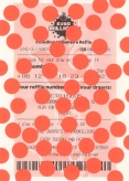 lotto, lottery ticket and stickers on paper