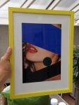 venus de croydon or supreme kate, acrylic on found photograph andframe