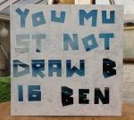 you must not draw big ben, Tipp-Ex on found printedcanvas